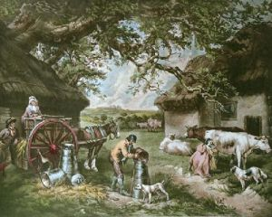 The Dairy Farm (Restrike Etching) by George Morland