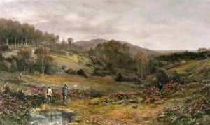 Rabbit Shooting (Restrike Etching) by Douglas Adams