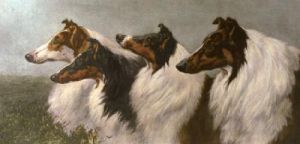 Comrades (Two Dogs) (Restrike Etching) by Herbert Thomas Dicksee