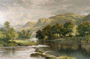 In a Welsh Valley (Restrike Etching) by Benjamin Williams Leader