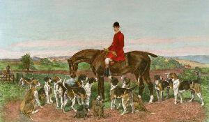 Kildare Hunt - Plate 1 (Restrike Etching) by John Emms