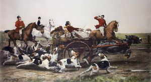 Run of the Season (Restrike Etching) by Alfred William Strutt