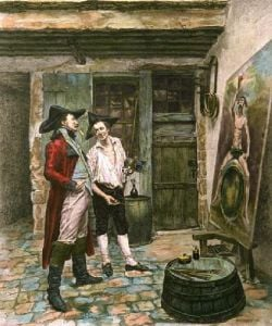 Sign Painter (Restrike Etching) by Jean-Louis Ernest Meissonier