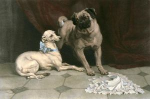 Othello & Desdemona (Restrike Etching) by Percy MacQuiod