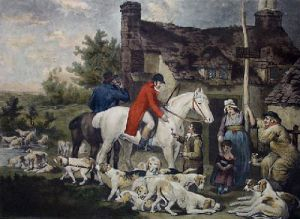 Outside a Country Alehouse (Restrike Etching) by Ward