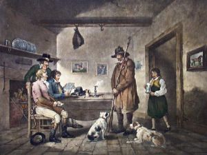 Alehouse Politicians (Restrike Etching) by George Morland