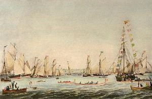 Royal Northern Yacht Club (Restrike Etching) by IH Clark