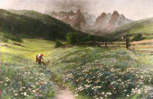 June in the Austrian Tyrol (Restrike Etching) by John MacWhirter