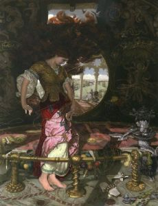 Lady of Shallot (Restrike Etching) by William Holman Hunt