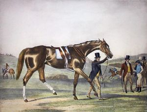 Our Nell at Epsom (Restrike Etching) by Francis Calcraft Turner