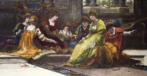 Bridal Eve (Restrike Etching) by Herbert Gandy