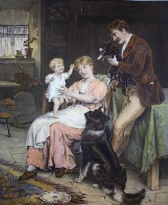 First Born (Restrike Etching) by George Hillyard Swinstead