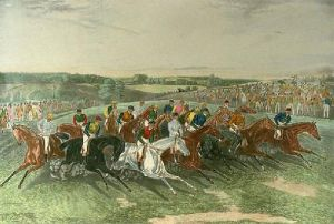 Derby:Start (Restrike Etching) by Francis Calcraft Turner