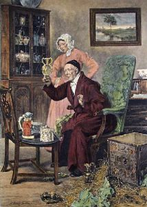 Antiquary (Restrike Etching) by Walter Dendy Sadler