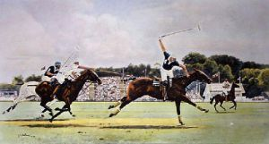 The Coronation Cup (Restrike Etching) by Terence Gilbert