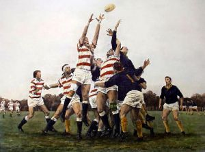 Struggle for Possession (Restrike Etching) by Terence Gilbert