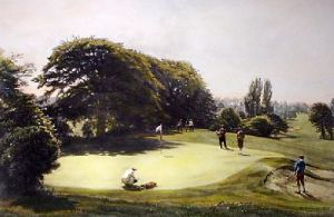 Safely On (Restrike Etching) by Arthur Weaver