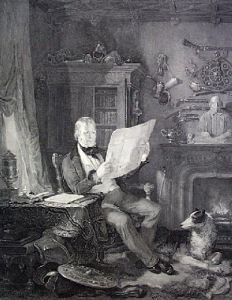Sir Walter Scott (Restrike Etching) by William Allan