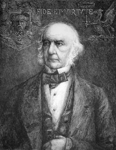 Rt. Hon W.E. Gladstone (Restrike Etching) by Henry William Batley