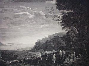 Dancing Shepherds (Restrike Etching) by Claude Lorraine