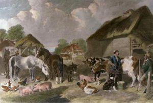 An English Farmyard (Restrike Etching) by John Frederick Herring