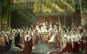 Coronation of Queen Victoria (Restrike Etching) by George Hayter