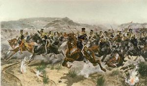 Charge of the Light Brigade (Restrike Etching) by Richard C. Woodville