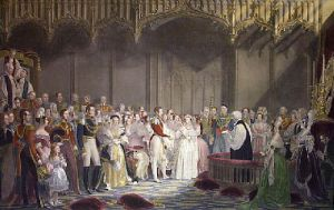 Marriage of Queen Victoria (Restrike Etching) by George Hayter