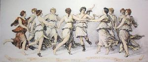 Dance of the Muses (Restrike Etching) by G. Romanus