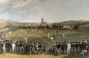 Cricket At Brighton (& Key) (Restrike Etching) by Charles Basebe