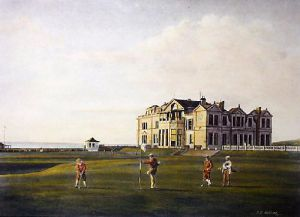 St. Andrews (Restrike Etching) by Terence Gilbert