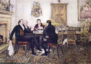 Over The Nuts and Wine (Restrike Etching) by Walter Dendy Sadler