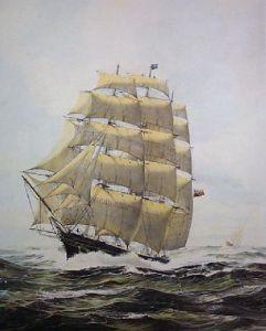 Cutty Sark (Restrike Etching) by William Bishop