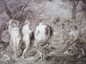 Judgement of Paris (Restrike Etching) by Peter Paul Rubens