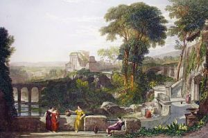 Villa Fountain (Restrike Etching) by William Leighton Leitch