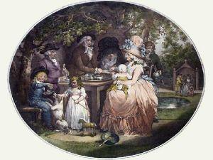 Tea Garden (Restrike Etching) by George Morland