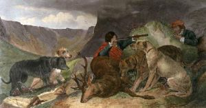 Deer Stalking (Restrike Etching) by Richard Ansdell