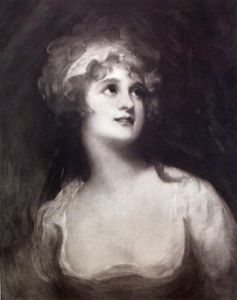 Mrs Ann Pitt (Restrike Etching) by George Romney