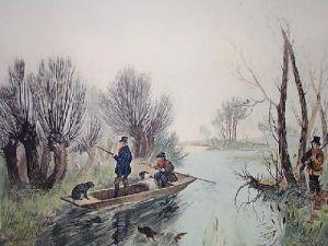 Waterfowl (Restrike Etching) by William Henry Davis