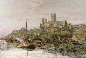 Lincoln Cathedral (Restrike Etching) by Victoria S. Hine