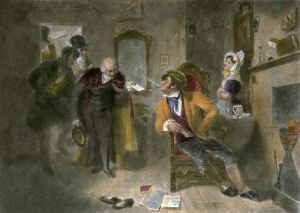 Soliciting a Vote (Restrike Etching) by Robert William Buss