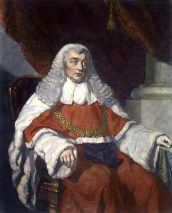 Lord Justice Tindale (Restrike Etching) by John Lucas