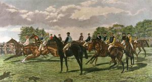 Our North Country Jockeys (Restrike Etching) by George Veal