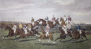 Our Gentlemen Steeplechase Riders (Restrike Etching) by George Veal