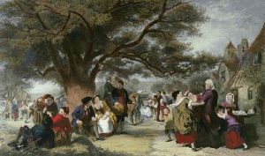 English Merry Making (Restrike Etching) by William Powell Frith
