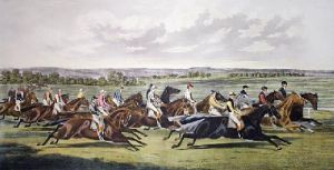 Racing Cracks (Restrike Etching) by A.F. de Prades