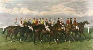 Our Leading Jockeys Of The Day (Restrike Etching) by George Veal