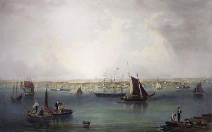 Boston (Restrike Etching) by John William Hill