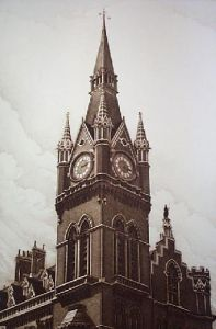 Tower of St Pancras (Restrike Etching) by Anonymous