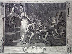 Industry, Idleness Plt9 (Restrike Etching) by William Hogarth